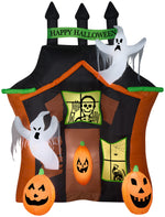 Load image into Gallery viewer, 9' Airblown Haunted Ghost House Scene Halloween Inflatable