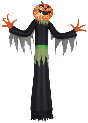 12' Projection Airblown Kaleidoscope Pumpkin Man Giant Halloween Inflatable