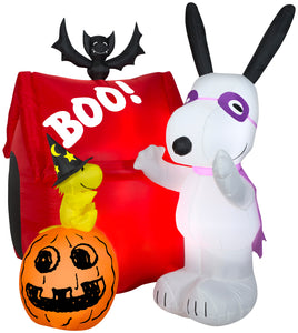 5.5' Airblown Snoopy Halloween House Scene Peanuts Halloween Inflatable