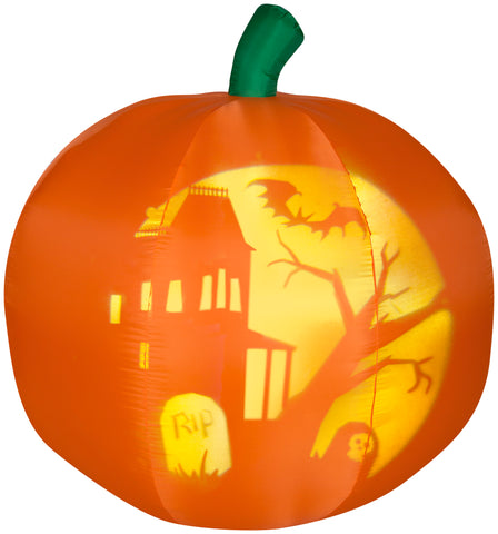 5' Airblown Panoramic Projection Pumpkin Halloween Inflatables