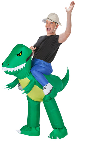 Adult Inflatable Dinosaur Rider Halloween Costume