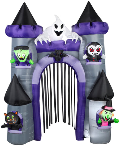 9' Airblown Archway Haunted Castle Halloween Inflatable