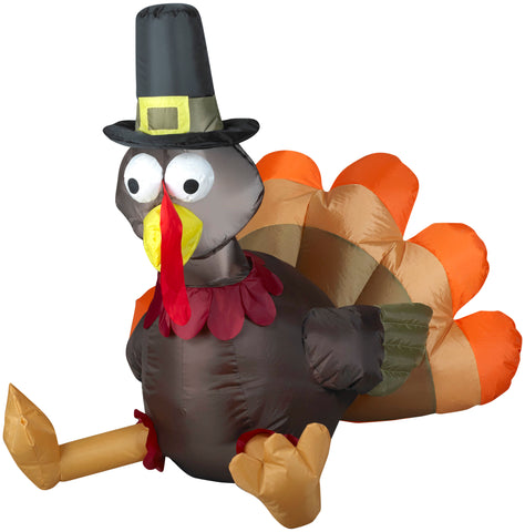 3' Airblown Outdoor Pilgrim Turkey Thanksgiving Inflatable