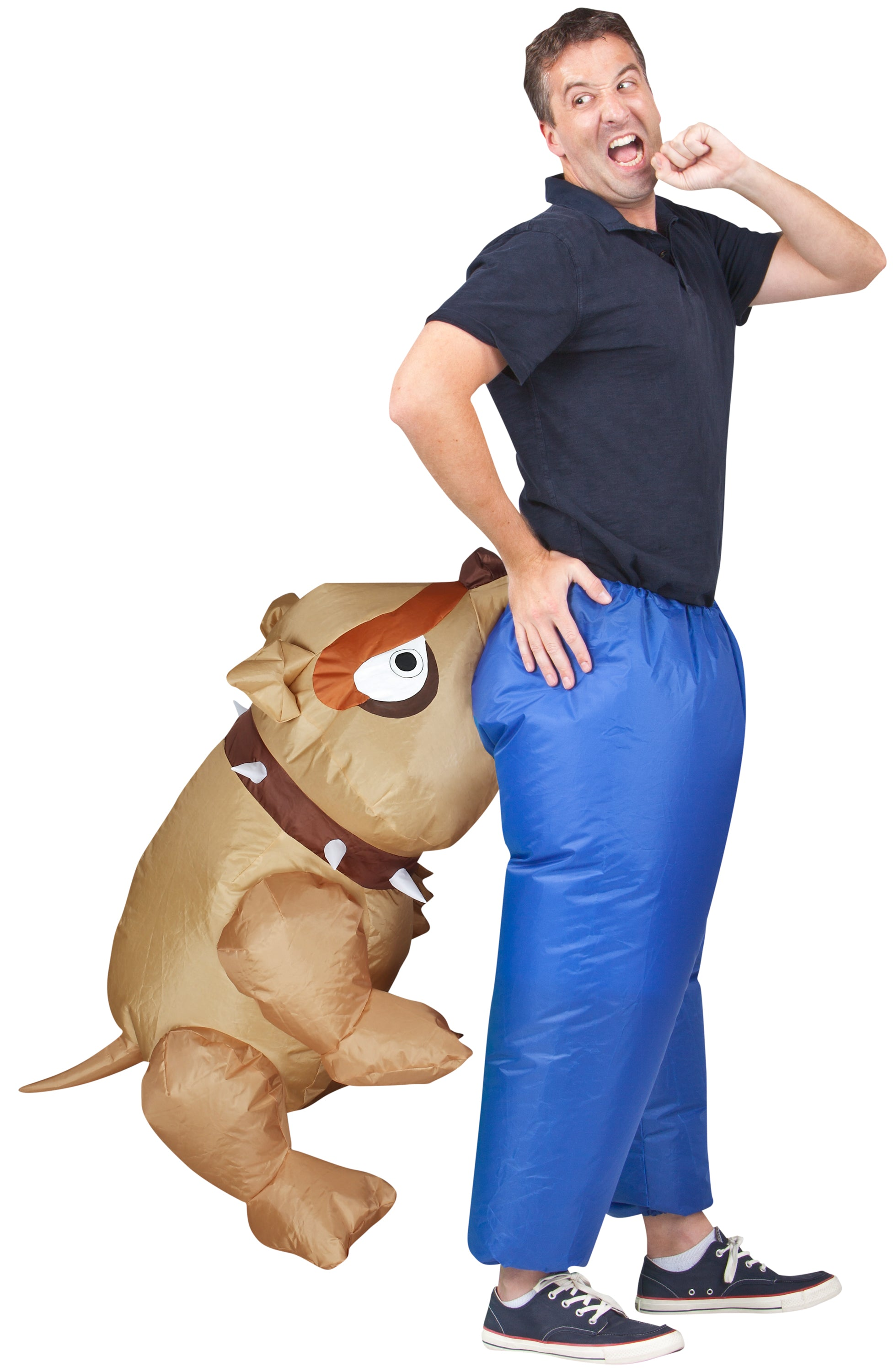 Illusion Inflatable Man-eating Bull Dog Halloween Costume