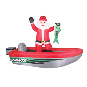 10' Fishing Santa Christmas Inflatable