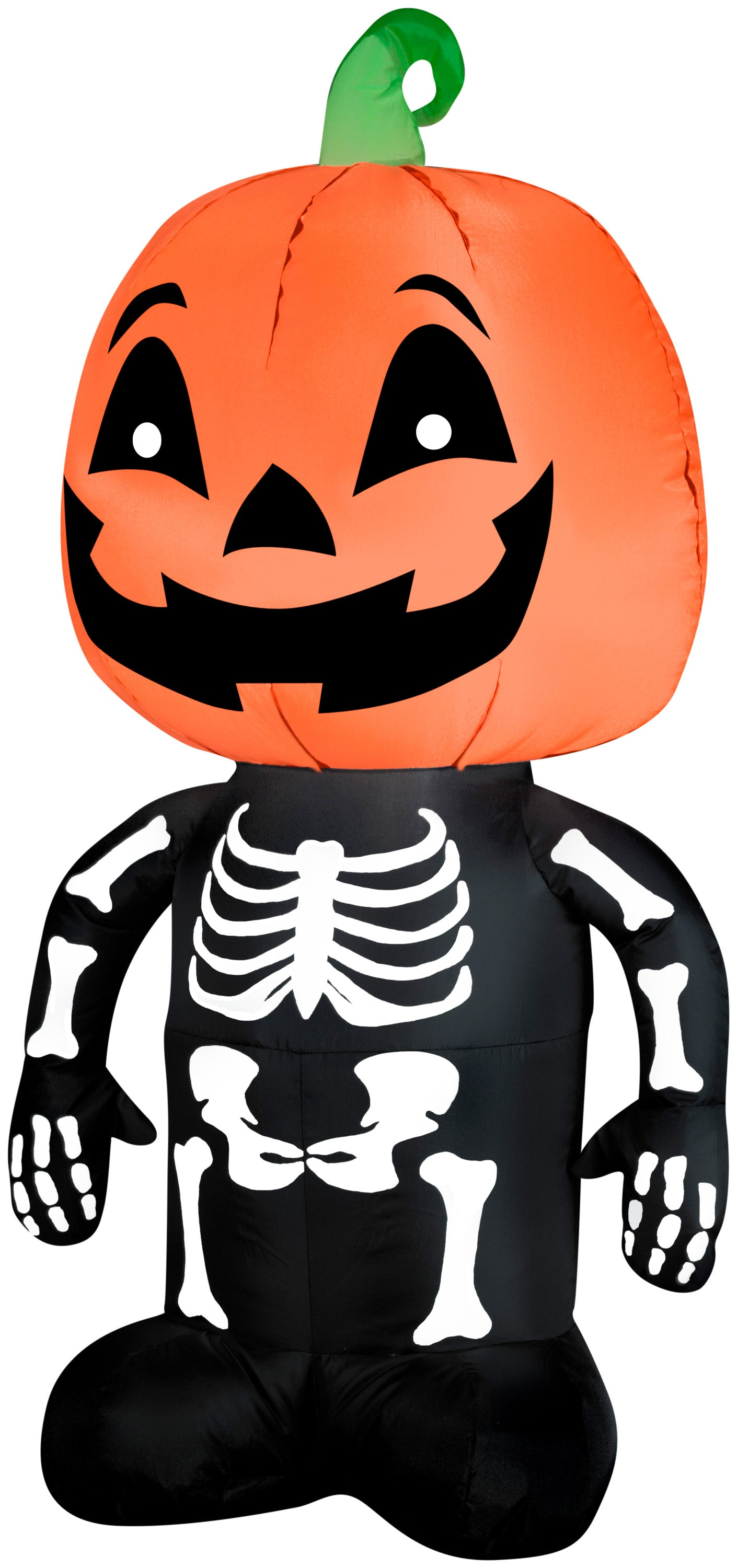 3.5' Airblown Outdoor Pumpkin Boy Skeleton Halloween Inflatable