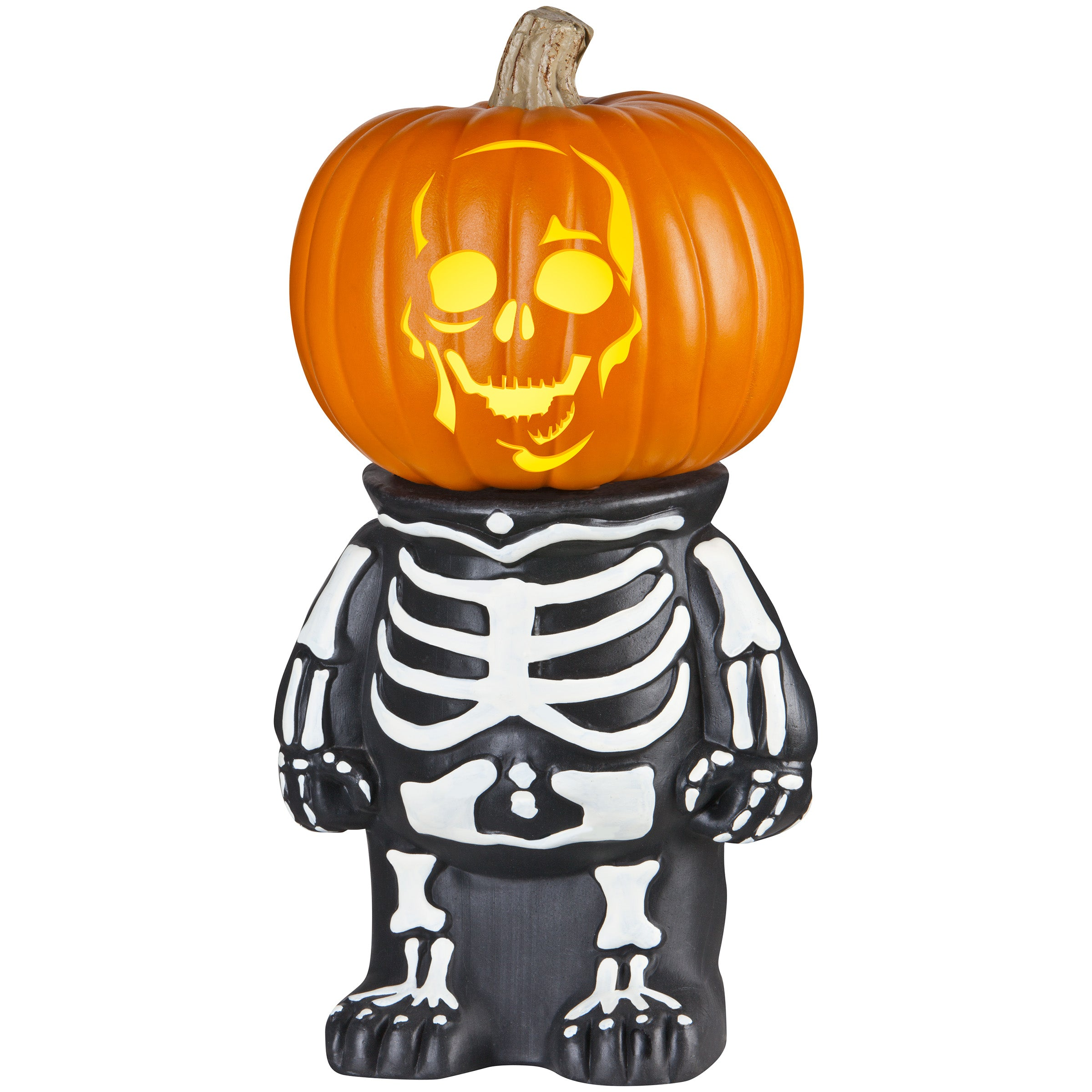 Gemmy Pumpkin Stand Skeleton