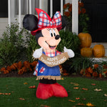 Load image into Gallery viewer, 3.5' Airblown Minnie as Scarecrow Disney Thanksgiving Inflatable