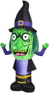 7' Airblown Stumpy Head Witch Halloween Inflatable
