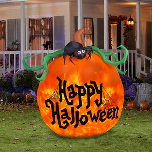 6' Projection Airblown Kaleidoscope Happy Halloween Pumpkin Halloween Inflatable