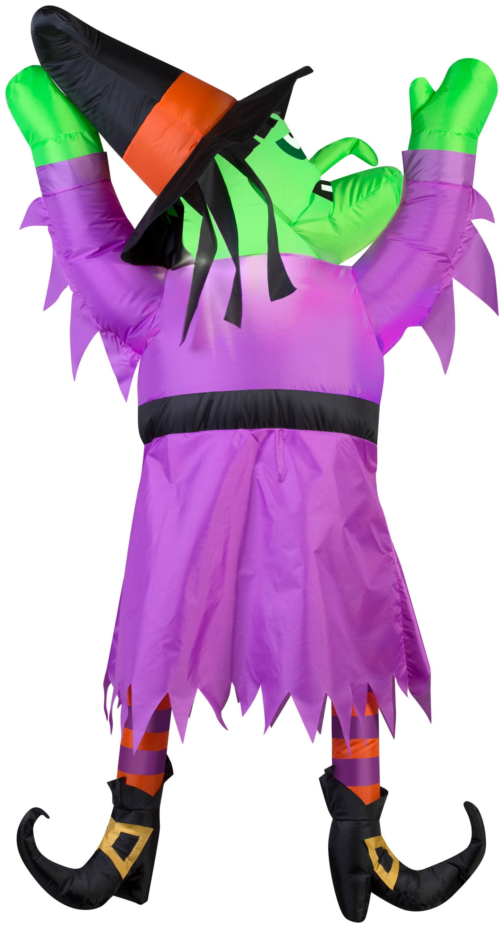 4.5' Airblown Witch Hanging From Roof Halloween Inflatable