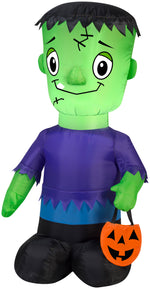 Load image into Gallery viewer, 3.5' Airblown Monster Boy Halloween Inflatable