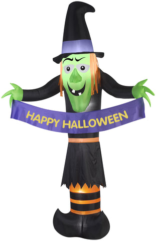 12' Airblown Giant Witch Halloween Inflatable