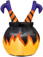 Load image into Gallery viewer, 3' Airblown Witch Legs in the Cauldron Halloween Inflatables