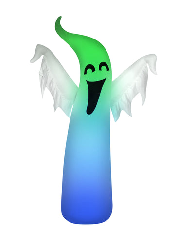5' Inflatable Color Changing Ghost Halloween Inflatable