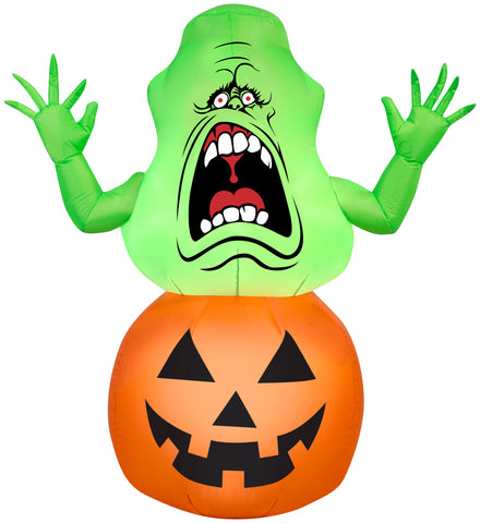 Airblown Slimer on Pumpkin Ghostbusters Halloween Inflatable
