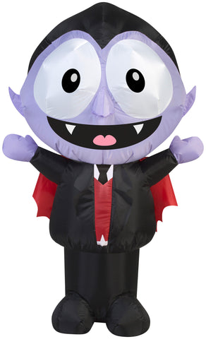 3.5' Airblown Big Eyes Little Dracula Halloween Inflatable