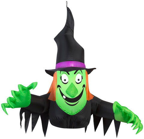 3.5' Airblown Window Witch Creeper Halloween Inflatable