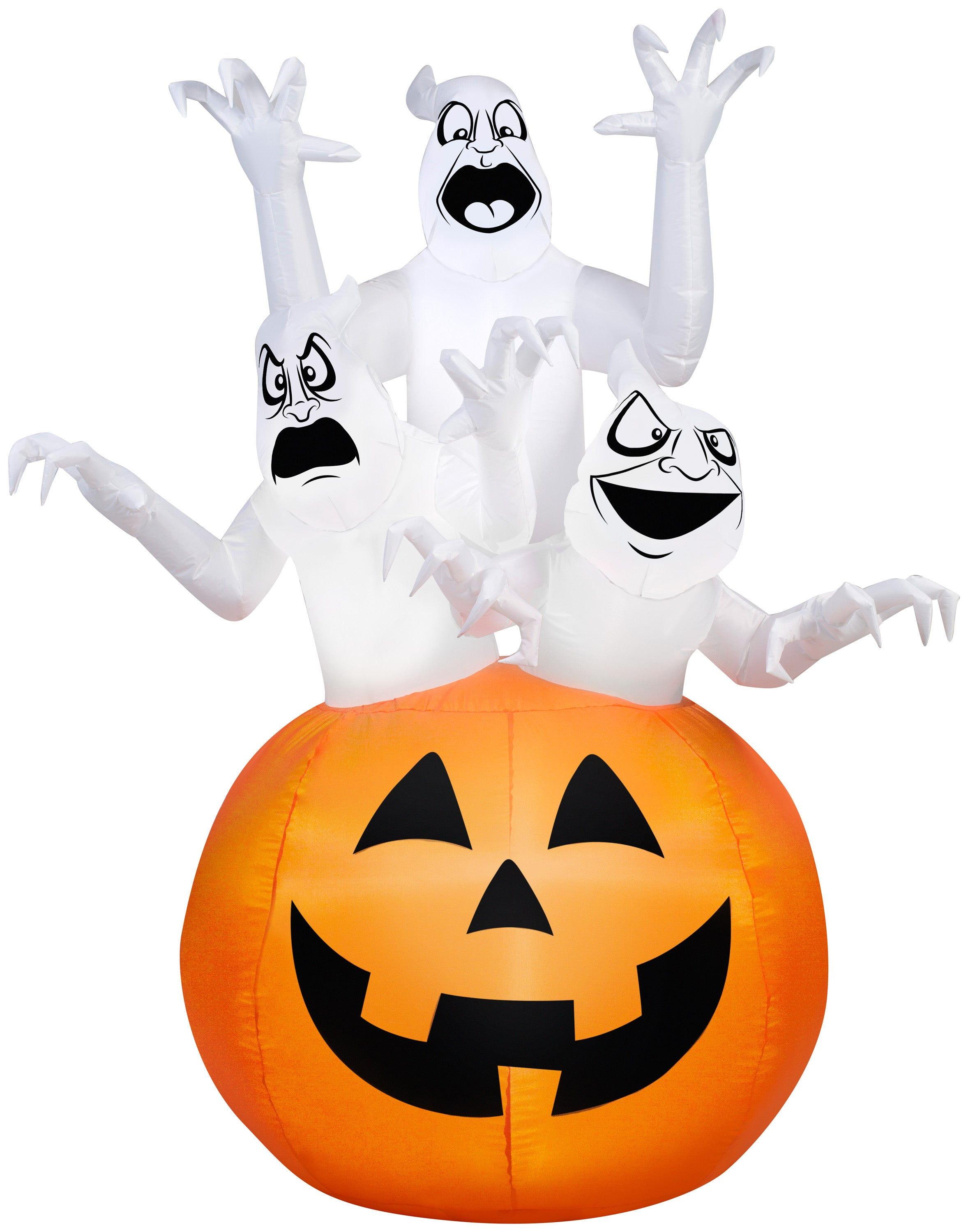 6' Airblown Three Ghosts in Pumpkin Halloween Inflatable