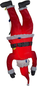 Christmas Airblown Inflatable 6.5' Upside Down Hanging Santa