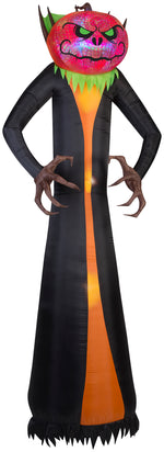 Load image into Gallery viewer, 12' Projection Airblown Phantasm Pumpkin Reaper Giant Halloween Inflatable