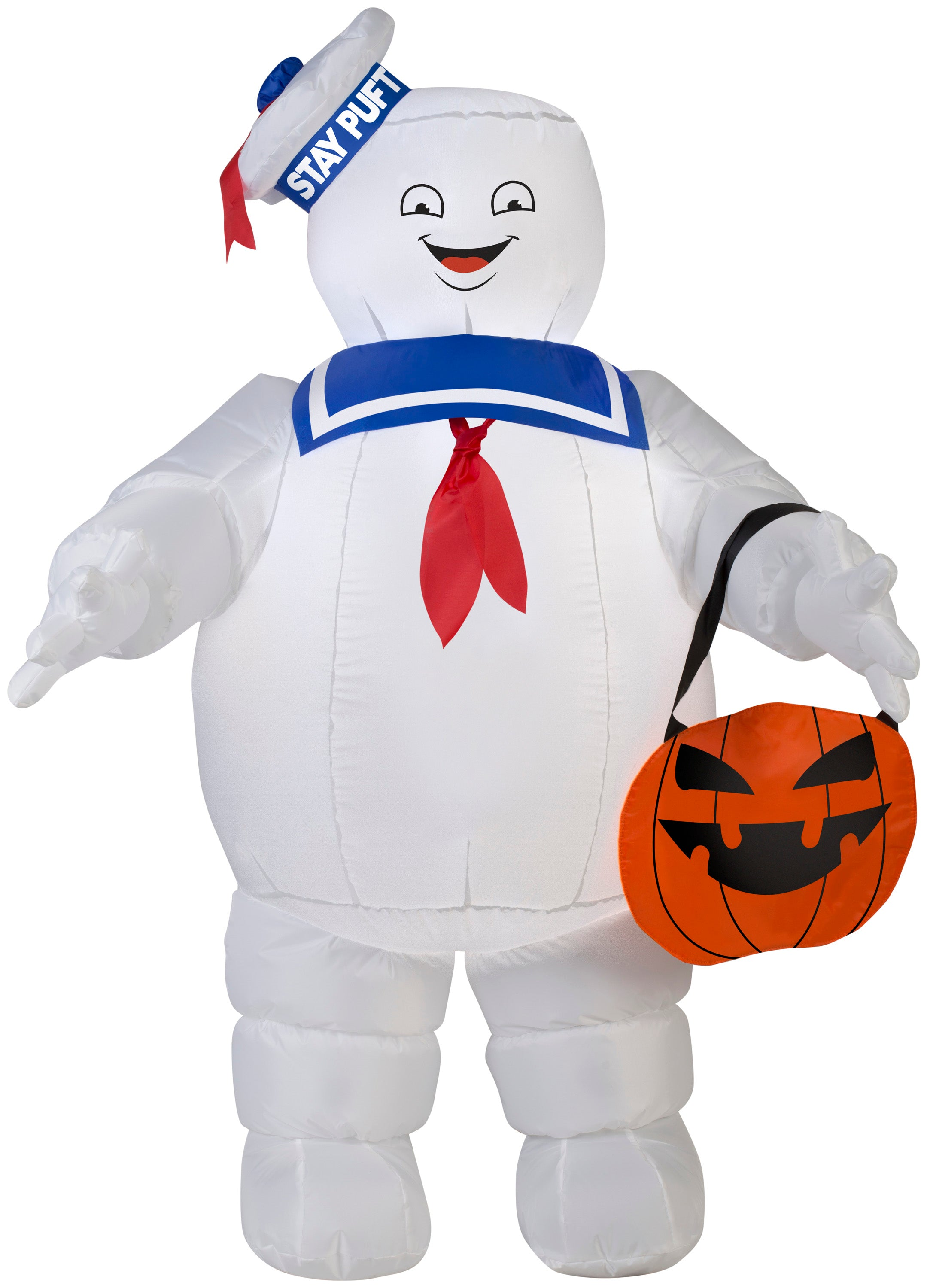 3.5' Airblown Stay Puft w/ Pumpkin Tote Ghostbusters Halloween Inflatable