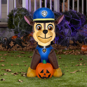 3' Airblown Paw Patrol Chase w/ Pumpkin Halloween Inflatable