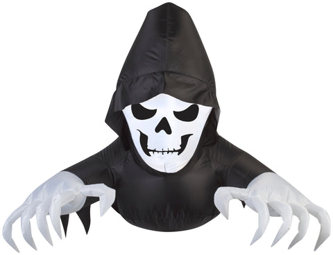 2' Airblown Window Creeper Friendly Reaper Halloween Inflatable