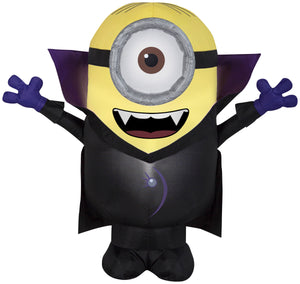 3' Airblown Gone Batty Minion Halloween Inflatable