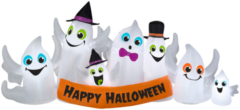 9' Wide Airblown Ghost Party Collection Scene Halloween Inflatable