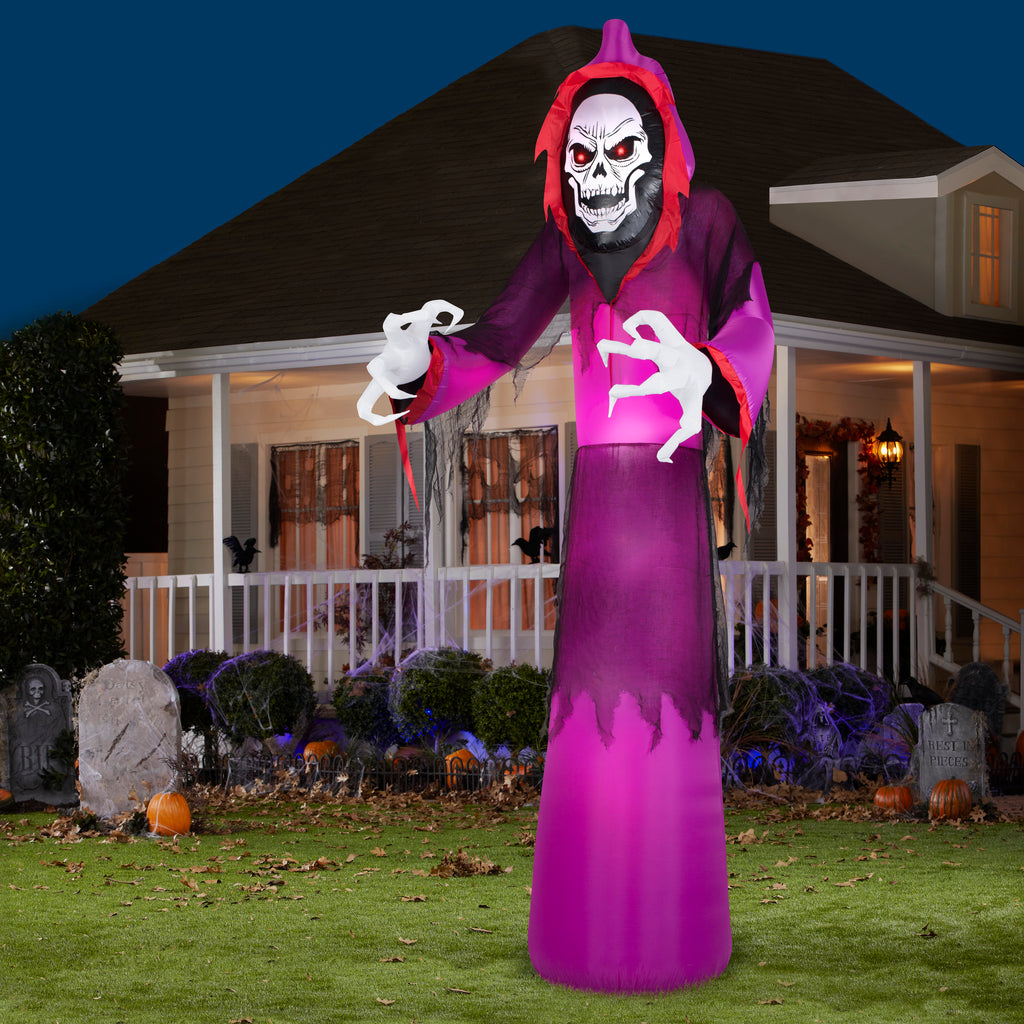 12 Airblown Giant Grim Reaper Halloween Inflatable