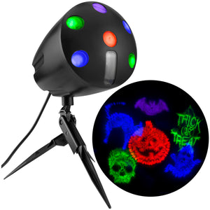 Halloween Firework Lightshow Projection Display w/ Sound
