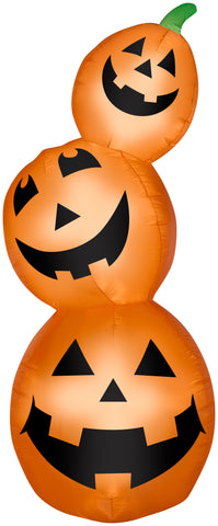 7' Airblown Pumpkin Stack Halloween Inflatable