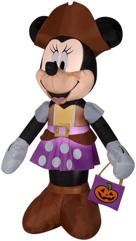 5' Minnie Mouse in Pirate Costume Halloween Inflatable
