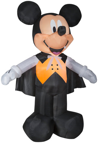 10' Giant Airblown Mickey Vampire in Orange Vest Halloween Inflatable