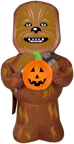 5' Star Wars Chewbacca w/Pumpkin Halloween Inflatable