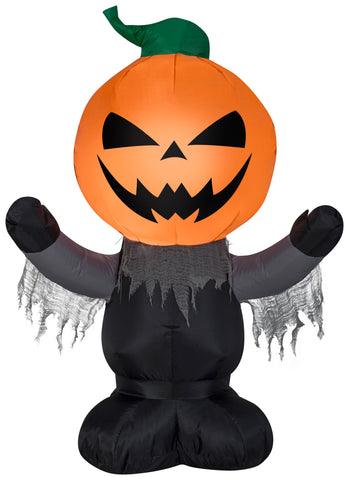 3.5' Airblown Scary Pumpkin Reaper Halloween Inflatable