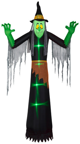 12' Giant Airblown ShortCircuit Witch w/ Clothing Halloween Inflatable