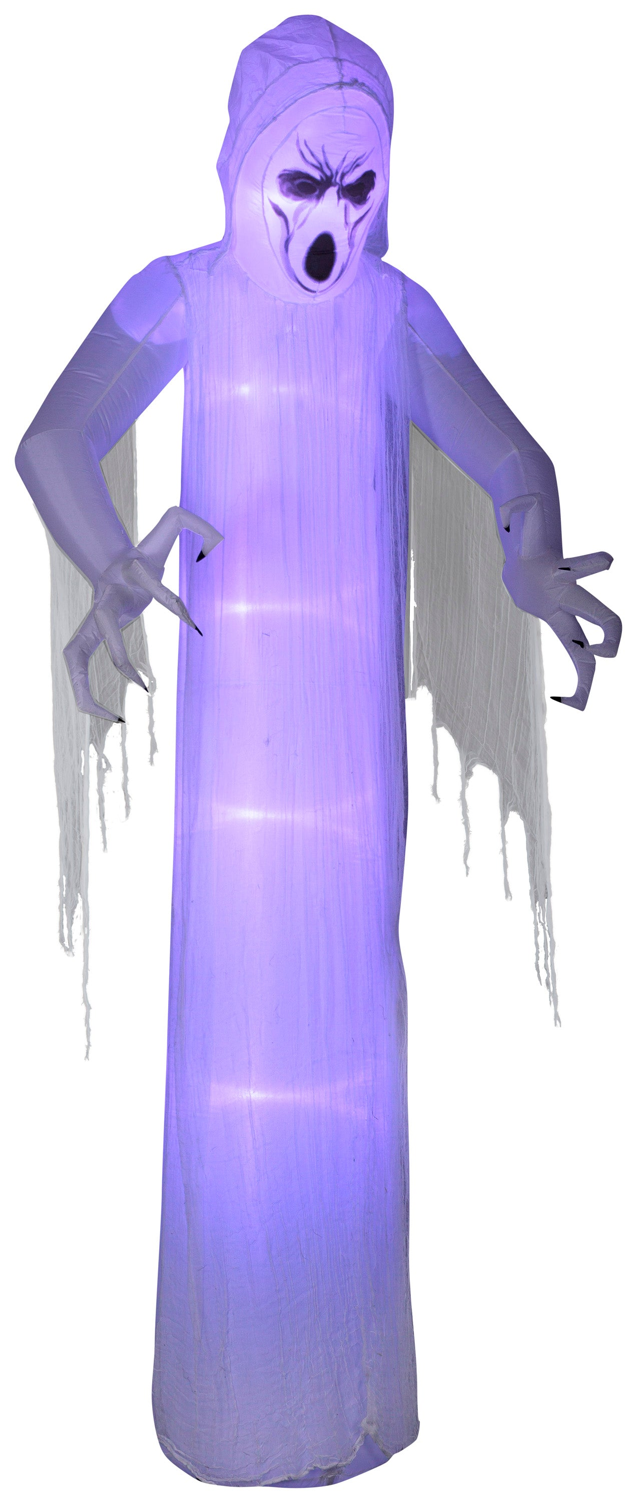 12' Lightshow Airblown ShortCircuit Frightening Ghost w/ Gauze Halloween Inflatable