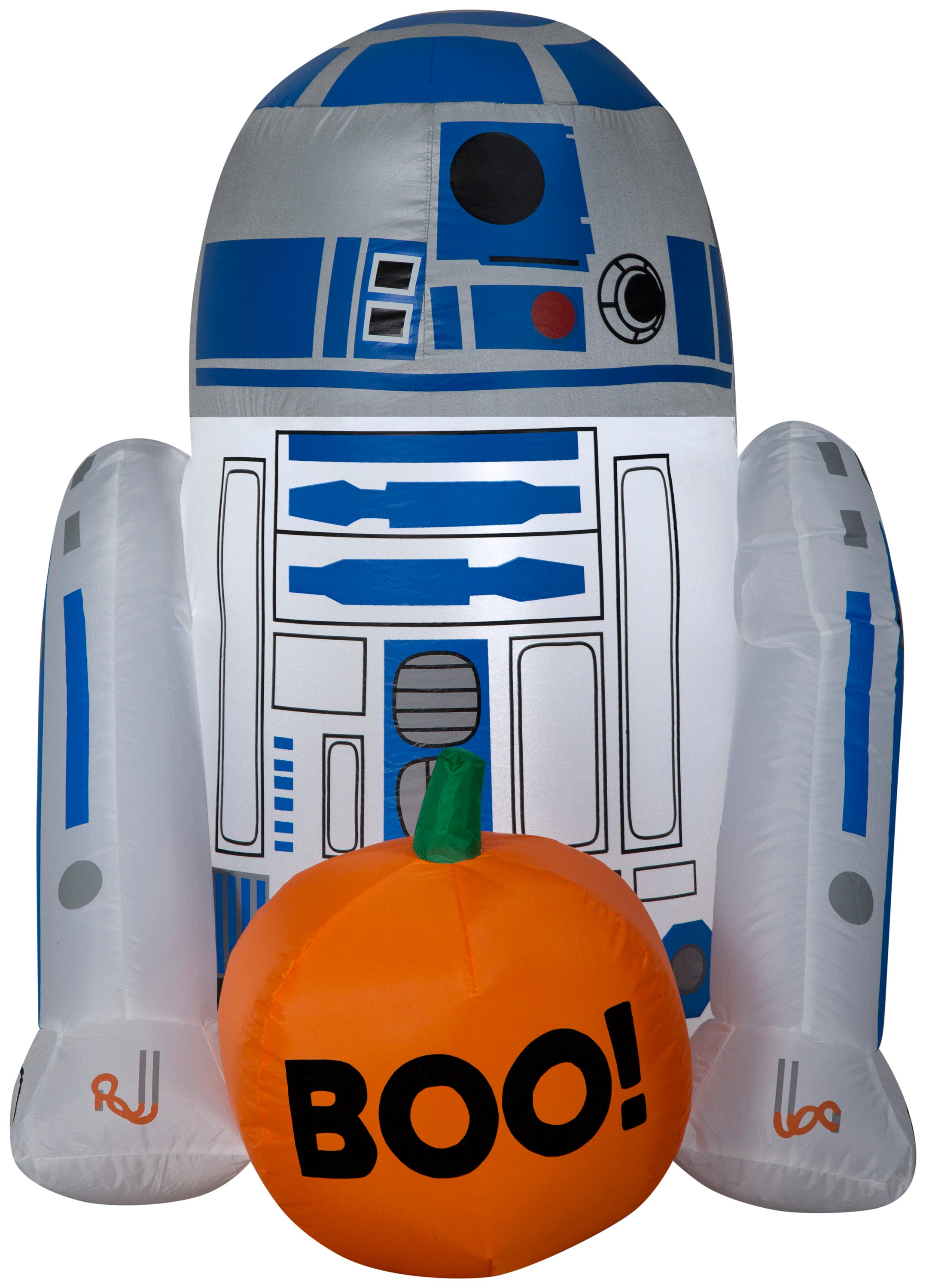 3' Airblown R2 D2 w/ Boo Pumpkin Star Wars Halloween Inflatable