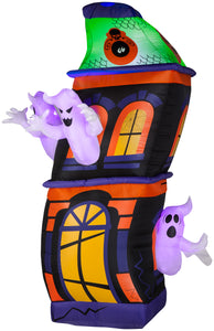 8' Lightshow Airblown Short Circuit Ghost House Scene Halloween Inflatable