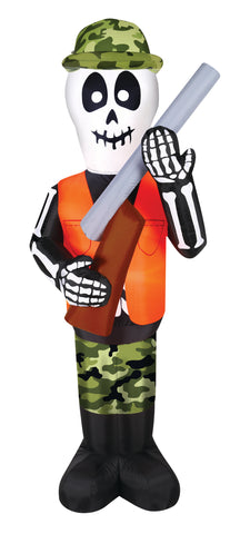 7' Inflatable Skeleton Hunter Halloween Inflatable