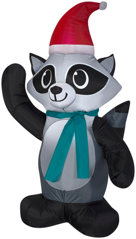 3.5' Airblown Outdoor Raccoon Christmas Inflatable