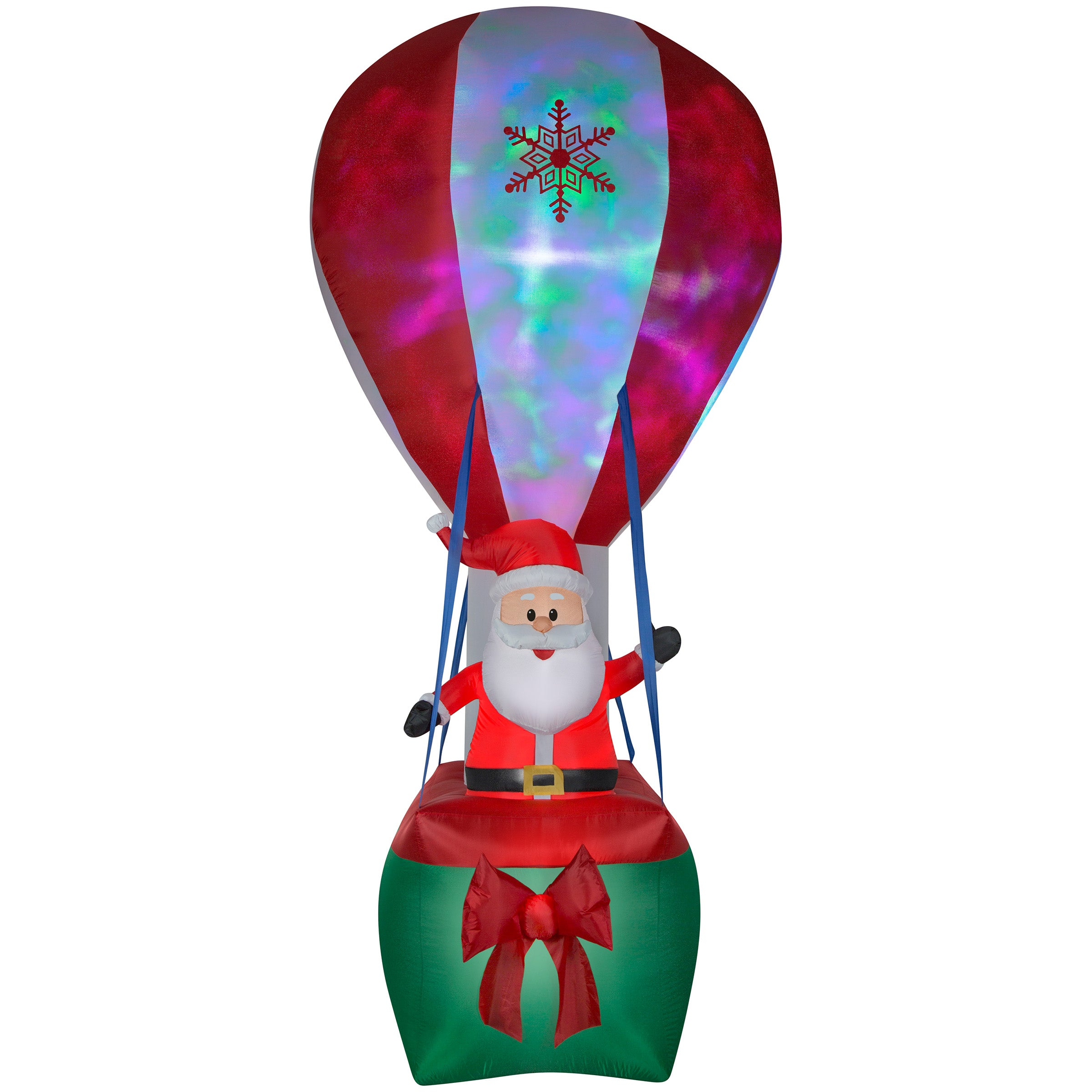 Gemmy 12' Santa in Hot Air Balloon w/Northern Sky Light Show Christmas Inflatable