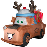 Load image into Gallery viewer, 6' Airblown Lighted Mater with Reindeer Hat and Present