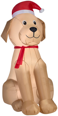 6' Airblown Golden Retriver - Christmas Inflatable