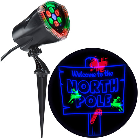 Red, Green & Blue North Pole Lightshow Projection