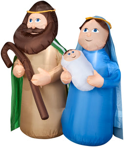 4' Airblown Holy Family Nativity Scene Christmas Inflatable