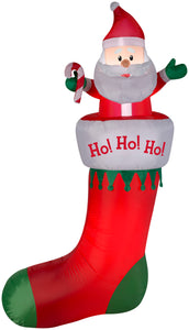 7' Airblown Stocking Hanging From Gutter Christmas Inflatable