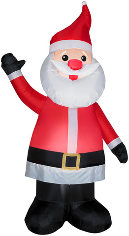 7' Airblown Santa w/Red Nose Christmas Inflatable